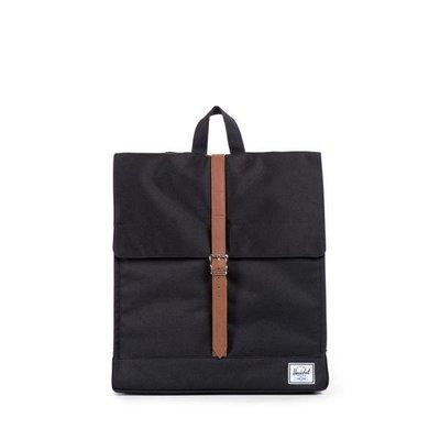 (預購商品) Herschel Supply Co City 黑色 提把 帆布 貼布 LOGO 書包 後背包
