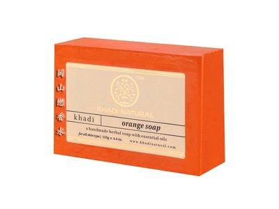 岡山戀香水~印度 Khadi 草本香橙手工精油香皂125g~優惠價:55元