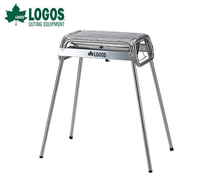 丹大戶外【LOGOS】日本 Smart80 不鏽鋼BBQ烤爐(附烤盤) M號 81065500