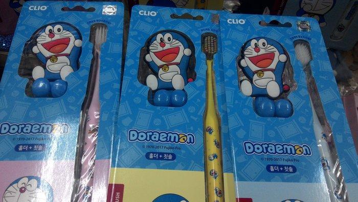 韓國進口 多拉A夢牙刷組  牙刷掛台 分享禮物交換禮物 現貨