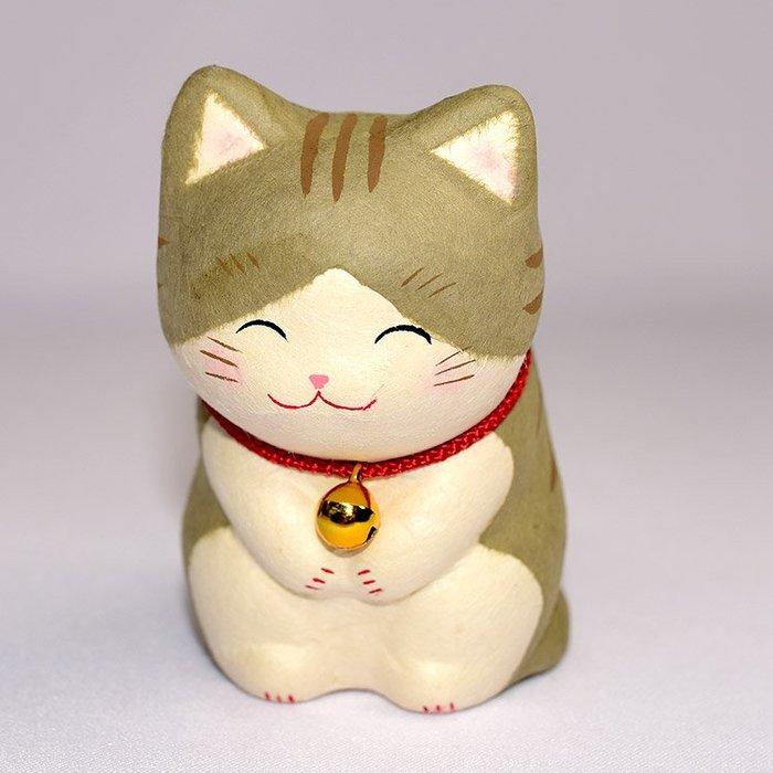 笑臉鞠躬 貓咪 吉祥物 龍虎作 日本製