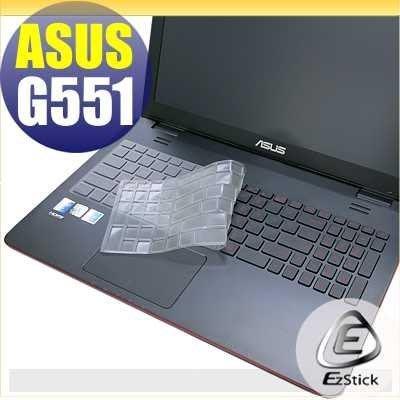 【EZstick】ASUS G551 G551J G551JM G551JW 奈米銀抗菌TPU 鍵盤保護膜 鍵盤膜