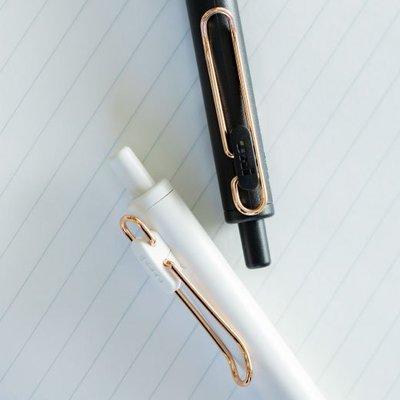 日本文具大賞uni-ball one三菱小濃芯限定中性筆春夏金夾按動筆芯黑科技水筆學生用速干考試黑筆0.5/0.38mm