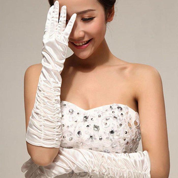 爆款--新娘手套長款保暖包指手套秋冬季婚紗結婚簡約甜美手套白色紅色#新娘用品#頭飾#復古#手工藝品