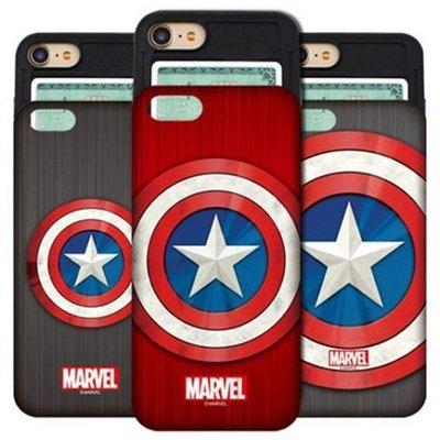 MARVEL 美國隊長盾牌 防摔滑蓋卡夾 手機殼│iPhone X XS MAX XR│z8323
