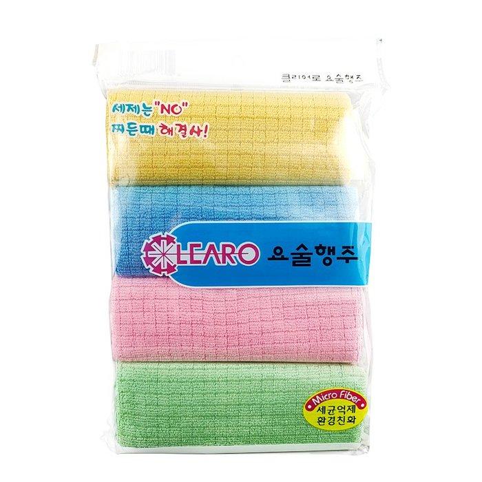 推廣特價  超細纖維洗碗布吸水毛巾 超吸水 (4入)擦地板  廚房抹布 餐具 茶杯 萬用抹布