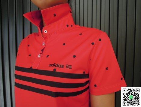 (零碼折扣)adidas高爾夫時尚仕女款 運動休閒polo衫 時尚搶眼的造型設計 專為女性設計的機能球衣