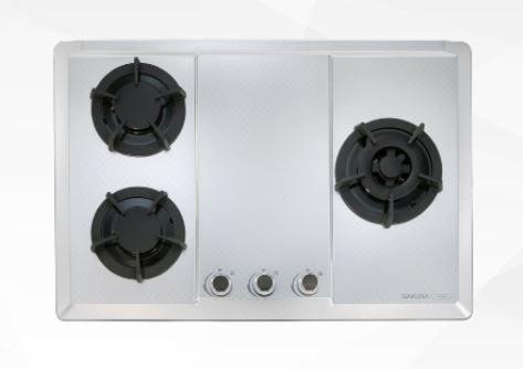 【婦品廚藝生活館】G-2633S/G(B)(W)三口大面板易清檯面爐