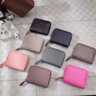 bv零錢包拉鏈卡包手工編織原版小羊皮市場品質最高