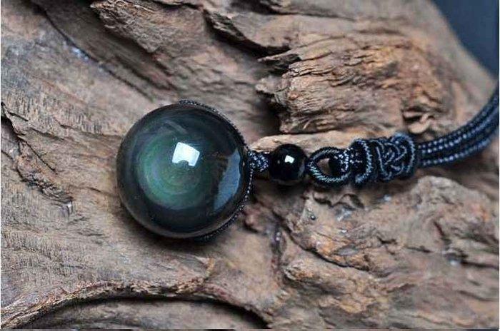 天然 黑曜石 彩虹眼 轉運 項鍊 雙彩眼黑曜石 轉運珠 圓珠 開光 開運 百分百天然 正品保證