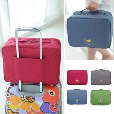 韓國 韓版 大容量旅行袋 肩背包 收納包收納袋盥洗包 包中包 登機箱 旅行箱行李箱外掛防水包 內衣 衣物 【RB339】