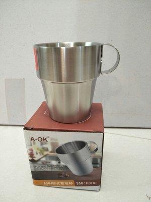 保温杯 鋼杯 口杯 環保杯 咖啡杯 露營杯 分享杯 隔熱杯 雙層杯 防燙杯 韓式雙層杯 304(18-8)不鏽鋼1入