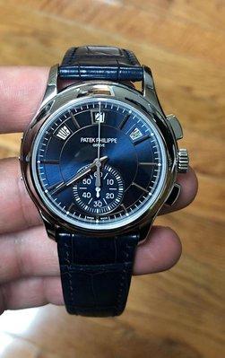 Patek Philippe [NEW] Annual Calendar Chronograph 5905P Blue Dial