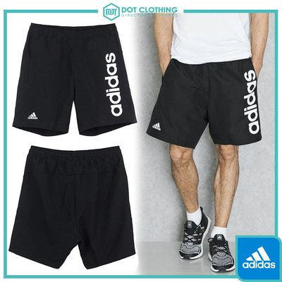 DOT聚點 Adidas Essentials Short 黑白 字母 LOGO 運動 短褲 海灘褲 男  BS5039