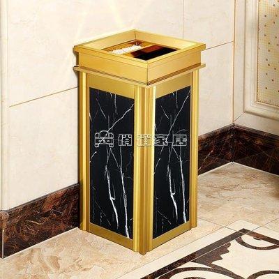 垃圾桶 不銹鋼垃圾桶酒店大堂立式高檔家用電梯口仿大理石戶外煙灰桶大號YYJ 快速出貨