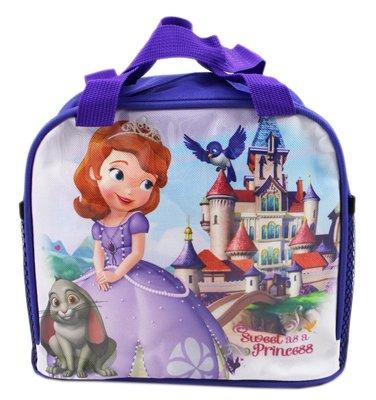 【卡漫迷】 蘇菲亞 便當袋 紫 ㊣版 手提袋 拉鍊式 餐袋 迪士尼 小公主 Sofia 兔子Clover 水壺
