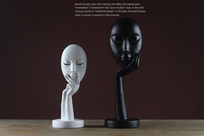 ART。DECO  人臉擺件 工藝品 北歐 現代 時尚擺件 北歐裝飾品