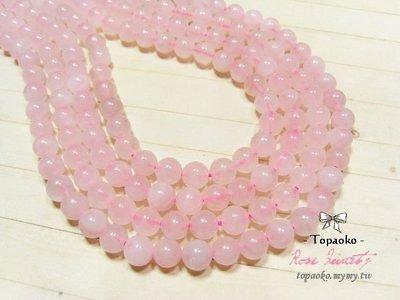 《晶格格的多寶格》串珠材料˙天然石配件 天然粉晶約6.5mm圓珠一份(60P)【S302-06】條珠/佛珠