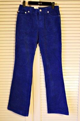 全新Ralph Lauren寶藍色純棉燈芯絨修身小直筒長褲 (原價$18800)