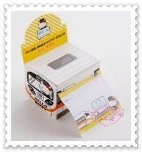 ♥小花花日本精品♥ Hello Kitty 台鐵 新太魯閣號 彩繪列車 列車車站 便條紙 MEMO紙 62024204