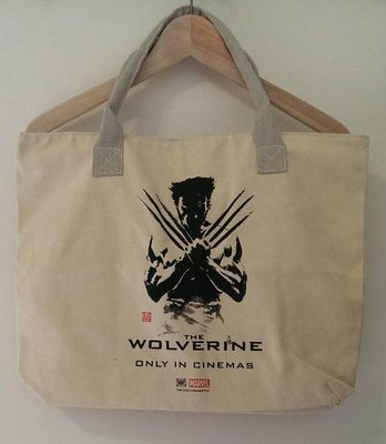 【Dr. Fashion 】金剛狼 The Wolverine 米色 托特包 帆布包