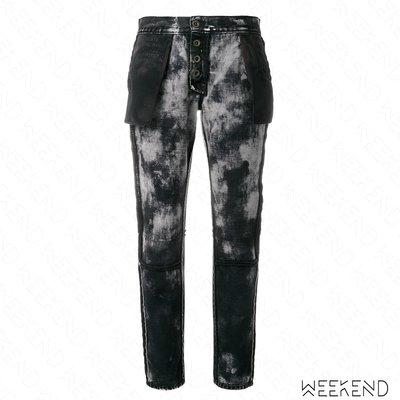 【WEEKEND】 UNRAVEL 反穿 仿舊 長褲 牛仔褲 黑色 18新款