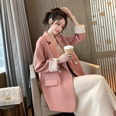 Dlan正韓秋冬季女裝2020年春秋裝新款正韓英倫風ins設計感小眾小西裝外套女西服上衣