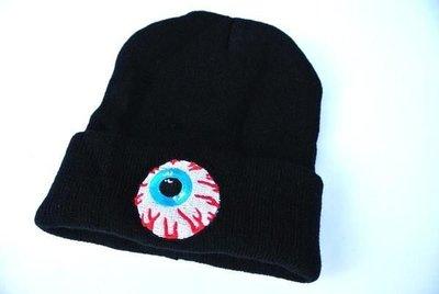 獨家訂製 刺繡眼球 街舞 針織帽 毛線帽 毛帽 哥德 龐克 搖滾 SNAPBACK 棒球帽 潮流 原宿 非MISHKA
