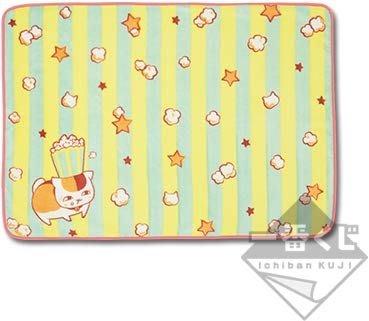 AQI BUY 夏目友人帳 一番賞 D賞 貓咪老師 熱愛爆米花 毯被 被子 毛毯 日本正版