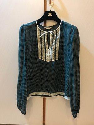 OLIVE des OLIVE 日本品牌二手點點絲質可愛氣質襯衫約S-M