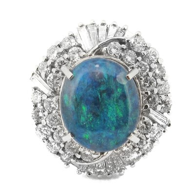 【JHT金宏總珠寶/GIA鑽石專賣】天然蛋白石戒指/材質:PT900(JB46-A04)