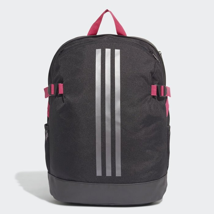 Adidas 全新 黑色 桃紅邊灰線 筆電夾層 背包 後背包 肩背包 書包 運動背包 旅行背包 DZ9439