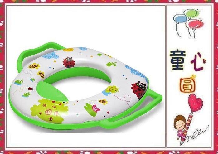 小青蛙馬桶輔助便器-雙把手設計~兒童安全馬桶扶手◎童心玩具1館◎