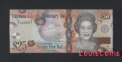 【Louis Coins】B1484-CAYMAN ISLANDS-2010 & 2014開曼群島紙幣,25