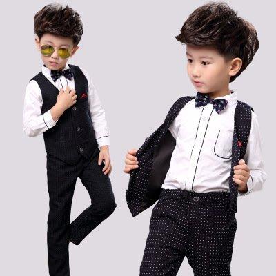 【衣Qbaby】男童韓版長袖白色點點馬...