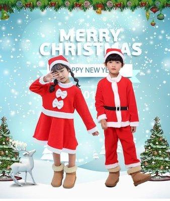 聖誕節兒童服裝男童女童裝扮小朋友聖誕老人衣服套裝幼兒園演出服