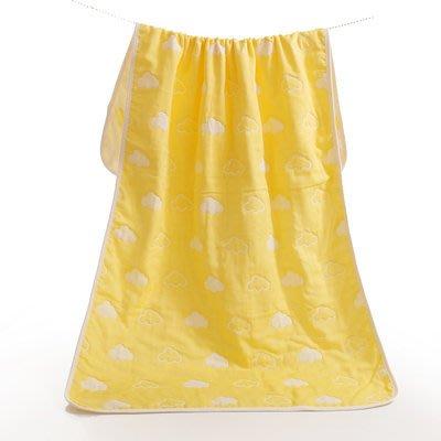 BabyFace【五層紗】紗布料擦澡 雲朵款 2色 純棉浴巾包巾蓋被新生嬰兒童柔軟不掉毛好用推薦(70*140)