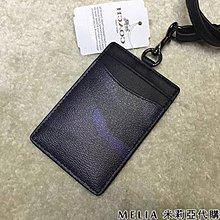 Melia 米莉亞代購 COACH 2019ss 識別證套 證件套 悠遊卡套 F30297 基本款 黑色 藍迷彩圖案