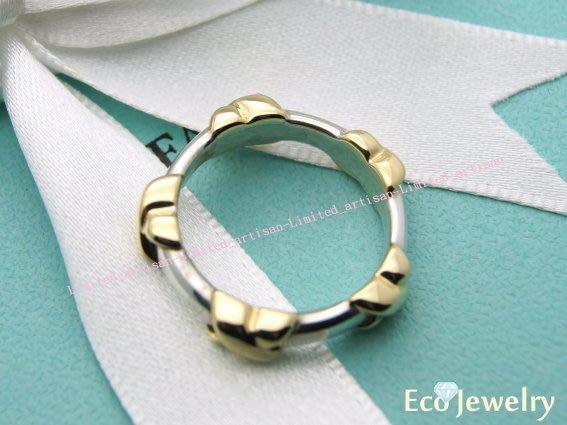 《Eco-jewelry》【Tiffany&Co】經典18K金帕洛瑪5X 純銀925戒指~專櫃真品已送洗