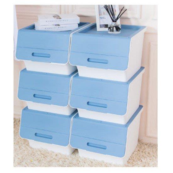 荻野屋/HB651/大口鄉村直取式整理箱藍/65L/嬰兒衣物收納/整理箱/無印良品/HB65-1/直購價