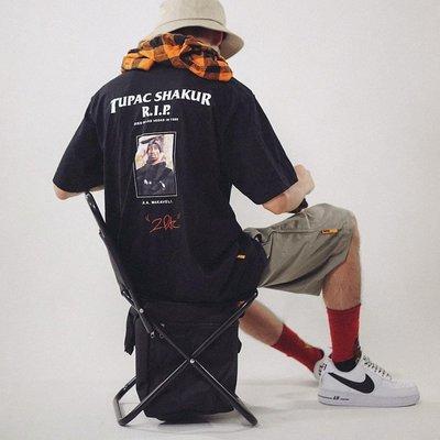 街頭 嘻哈 HIPHOP 原創 復古 BBOY RAP 說唱歌手 寬松純棉短袖T恤