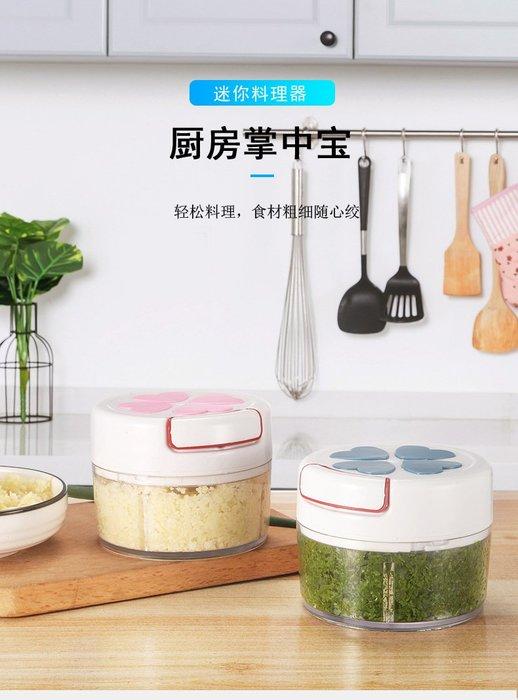 廚房迷你手動絞菜機 攪蒜泥器 切壓辣椒碎生薑搗蒜蓉器