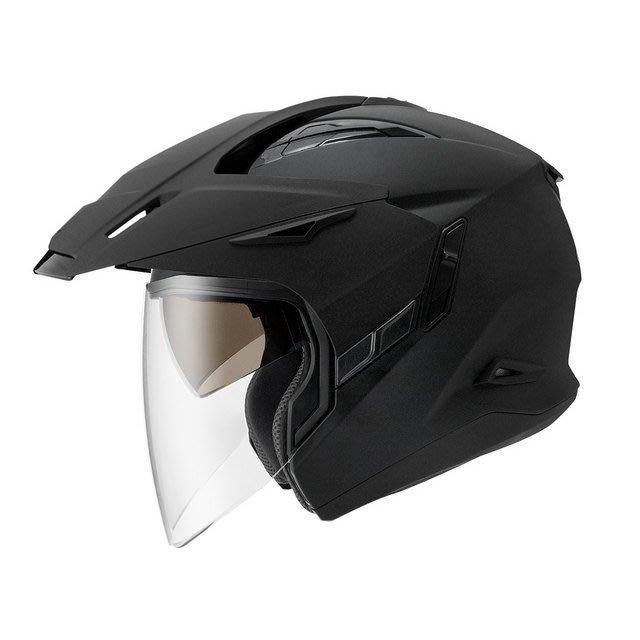 ZEUS 瑞獅安全帽,ZS-613A,素色/消光黑