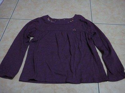 芳嘉二手小鋪~秋冬~麗嬰房familiar秋冬長袖紫色上衣~6