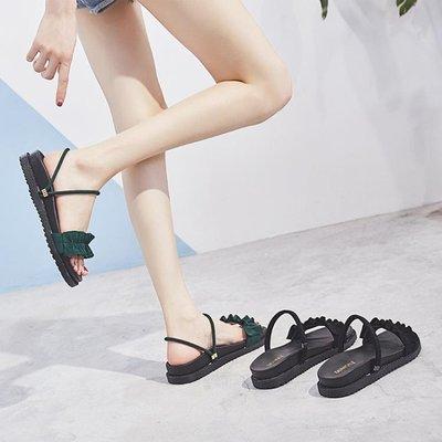 女涼鞋子兩穿厚底防滑港味學生拖鞋女夏季