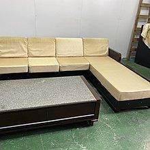 二手家具全省估價(大台北冠均 新五店)二手貨中心--優雅多功能L型木製沙發椅 收納型L沙發 SO-9121094