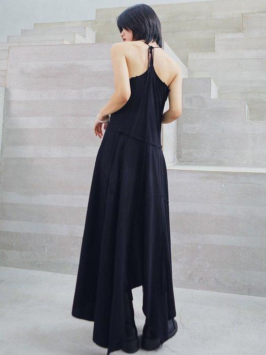Dark.Q DQ 暗黑吊帶連身裙性感打底吊帶裙