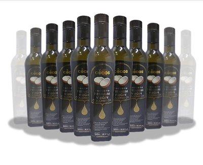 COCOS 頂級中鏈黑標椰子油 500ml/瓶(細化三次) 新加坡進口 防彈咖啡適用