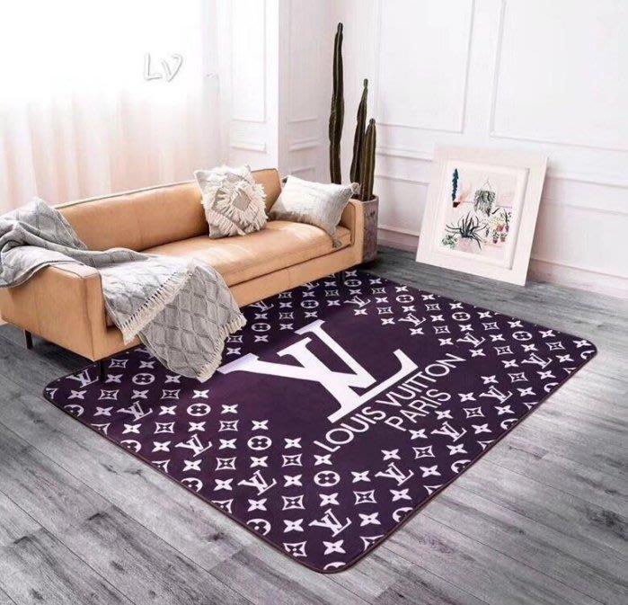 奢持品地墊地毯雙C風單層絨毯地墊附包裝小香客廳臥室廚房玄關墊床邊毯洗手間