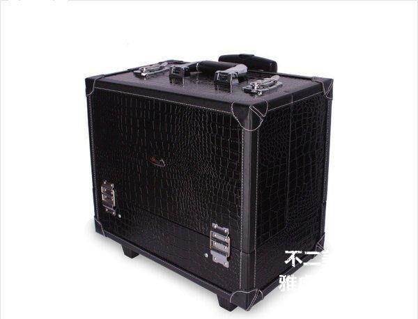 【格倫雅】^Sunrise 多層大容量復古專業拉桿化妝箱 可手提JL409BC700[